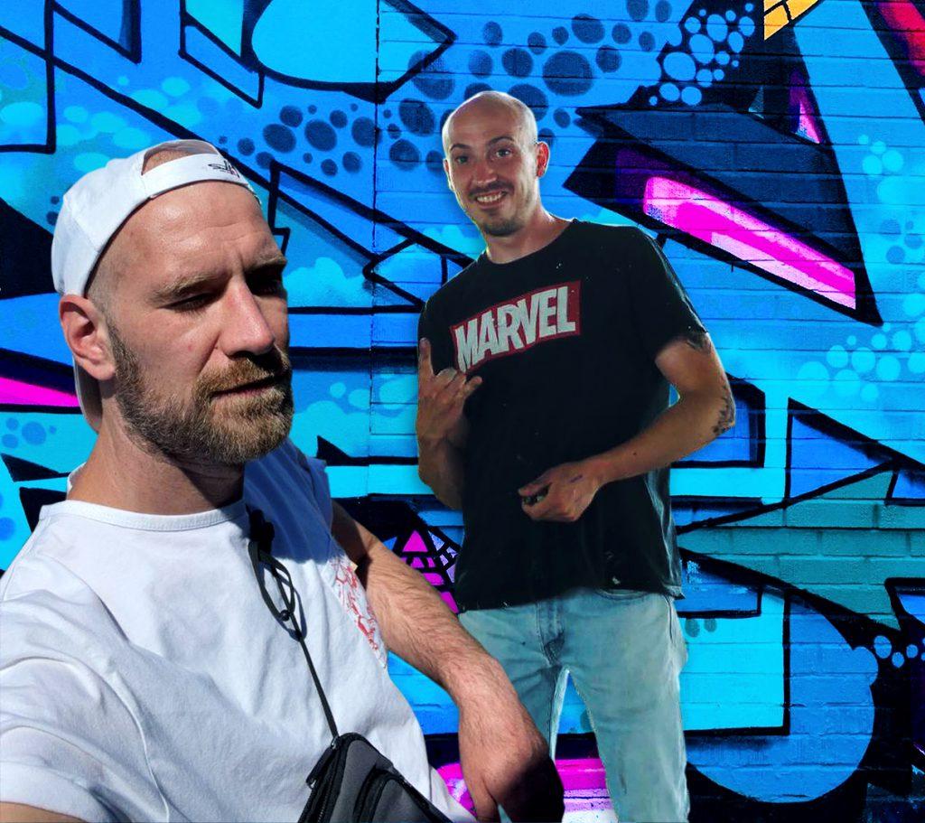 Graffiti-Künsterl Tobias Küsters und Dominik Caspari